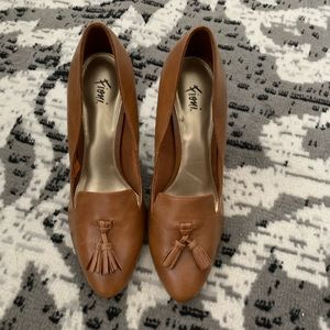 Fioni Brown Leather Heels